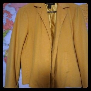 A yellow Pea Coat from Banana Republic